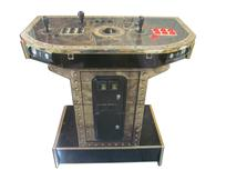 806 2-player, red buttons, black buttons, black trackball, gold trim, gold and black machine