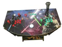 816 2-player, green buttons, red buttons, white trackball, gold trim, tron joystick, spinner, star wars