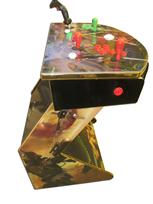 817 2-player, green buttons, red buttons, white trackball, gold trim, tron joystick, spinner, star wars