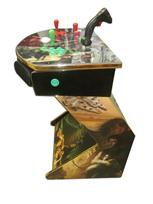 818 2-player, green buttons, red buttons, white trackball, gold trim, tron joystick, spinner, star wars
