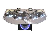 856 4-player, white buttons, lighted, black trackball, white trim, batman