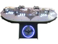 859 4-player, white buttons, lighted, black trackball, white trim, batman