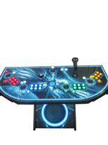 871 4-player, yellow buttons, green buttons, blue buttons, red buttons, lighted, blue trackball, black trim, tron joystick, spinner, insane, blue