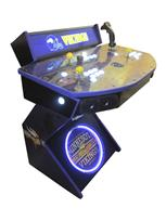 976 2-player, white buttons, lighted, clear trackball, purple trim, tron joystick, spinner, vikings football