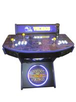 977 2-player, white buttons, lighted, clear trackball, purple trim, tron joystick, spinner, vikings football