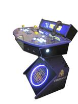 978 2-player, white buttons, lighted, clear trackball, purple trim, tron joystick, spinner, vikings football