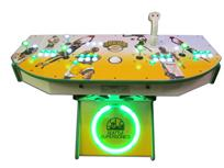 983 4-player, green buttons, white buttons, lighted, white trackball, green trim, white trim, tron joystick, seattle sonics basketball