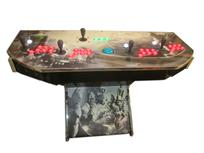 986 4-player, green buttons, red buttons, lighted, blue trackball, silver trim, batman, joker