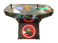 1019 2-player, green buttons, blue buttons, lighted, black trackball, silver trim, mortalcombat