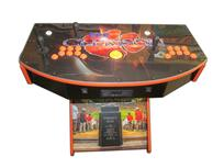 1074 2-player, blue buttons, orange buttons, lighted, orange trackball, orange trim, black trim, clemson, football
