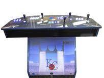 1081 4-player, blue buttons, white buttons, lighted, blue trackball, blue trim, kc royals, baseball