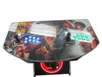 1106 2-player, green buttons, blue buttons, lighted, black trackball, silver trim, mortal combat