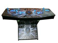 280 4-player, lighted, blue buttons, alien, lightning, blue trackball, spinner