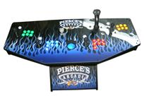 279 4-player, lighted, blue flames, pierce