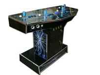 274 4-player, lightning, coin door, blue buttons, black buttons, blue trackball