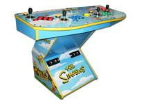 272 4-player, the simpsons, blue, red buttons, blue buttons, green buttons, orange buttons, yellow trackball