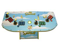 270 4-player, the simpsons, blue, red buttons, blue buttons, green buttons, orange buttons, yellow trackball