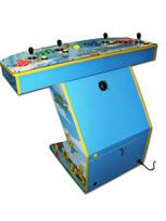 269 4-player, the simpsons, blue, red buttons, blue buttons, green buttons, orange buttons, yellow trackball