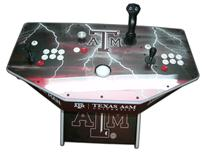 240 2-player, texas a&m, white buttons, red buttons, white trackball, tron joystick, spinner