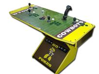 234 4-player, green buttons, sports, cowboys, wyoming, yellow, gtron joystick, spinner, green trackball