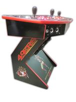 513 4-player, lighted, sports, football, 49ers, red buttons, white buttons, red trackball