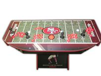 511 4-player, lighted, sports, football, 49ers, red buttons, white buttons, red trackball