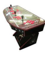 510 4-player, lighted, sports, football, 49ers, red buttons, white buttons, red trackball