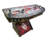 509 4-player, oklahoma, woodgrain, red buttons, white buttons, white trackball