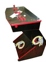 218 2-player, sports, football, redskins, red buttons, red trackball