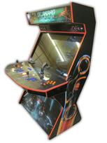 570 4-player, blue buttons, orange buttons, lighted, orange trackball, orange trim, tron joystick, tron