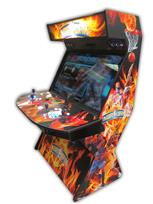 576 4-player, blue buttons, orange buttons, lighted, red trackball, orange trim, tron joystick, spinner, nba jam, flames