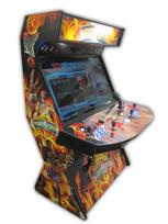 577 4-player, blue buttons, orange buttons, lighted, red trackball, orange trim, tron joystick, spinner, nba jam, flames