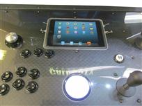 680 4-player, black buttons, white trackball, green trim, black trim, tron joystick, spinner, call of duty