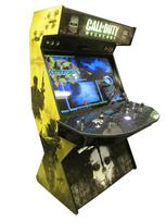 682 4-player, black buttons, white trackball, green trim, black trim, tron joystick, spinner, call of duty