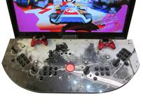 706 4-player, black buttons, red trackball, black trim, man on moutain