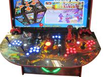 727 4-player, blue buttons, red buttons, lighted, red trackball, red trim, tron joystick, spinner, metroid