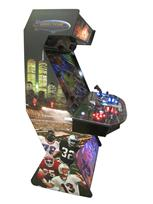 732 4-player, blue buttons, red buttons, lighted, blue trackball, black trim, tron joystick, spinner, supercade, super bowl