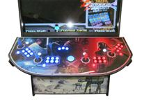 735 4-player, blue buttons, red buttons, lighted, blue trackball, black trim, star wars, fightscene