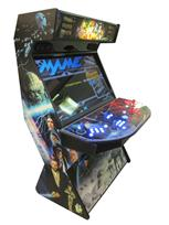 737 4-player, blue buttons, red buttons, lighted, blue trackball, black trim, star wars, fight scene