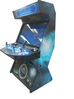 865 4-player, blue buttons, lighted, blue trackball, black trim, tron joystick, mame, space