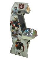 876 4-player, white buttons, lighted, red trackball, grey trim, auburn tigers, players