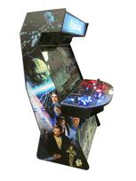 898 4-player, blue buttons, red buttons, lighted, red trackball, black trim, spinner, capecade, star wars