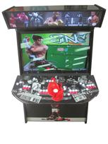 901 4-player, red buttons, white buttons, lighted, red trackball, black trim, spinner, boxing