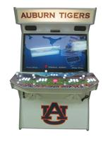 902 4-player, white buttons, lighted, red trackball, grey trim, auburn tigers, players