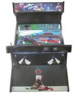 903 4-player, red buttons, white buttons, lighted, red trackball, black trim, spinner, boxing