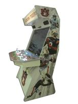 906 4-player, white buttons, lighted, red trackball, grey trim, auburn tigers, players