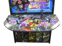 956 4-player, blue buttons, red buttons, lighted, red trackball, black trim, tron joystick, spinner, transformers
