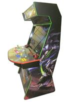 959 4-player, yellow buttons, green buttons, blue buttons, red buttons, orange trackball, green trim, purple trim, red trim, star craft