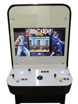 1200 2-player, yellow buttons, green buttons, blue buttons, red buttons, white buttons, black trackball, black trim, capcom