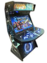498 4 player, star wars, space, mame, lighted, blue buttons, tron joystick, spinner, led lights